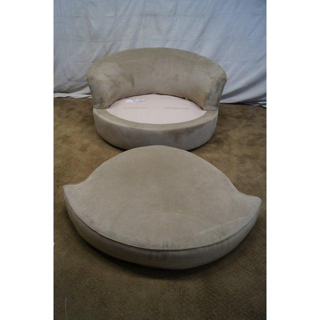 Image of Round Revolving Swivel Chair Loveseat