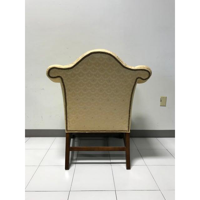 Vintage Fairington Mahogany Frame Button Tufted Arm Chair - Image 7 of 11