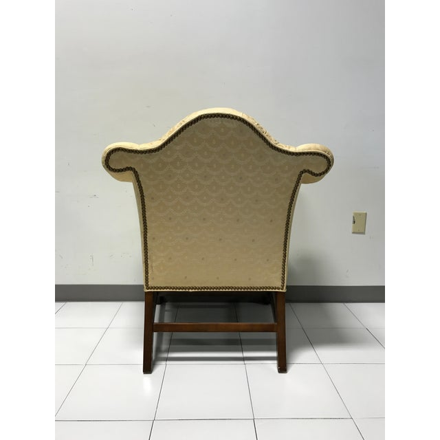 Image of Vintage Fairington Mahogany Frame Button Tufted Arm Chair