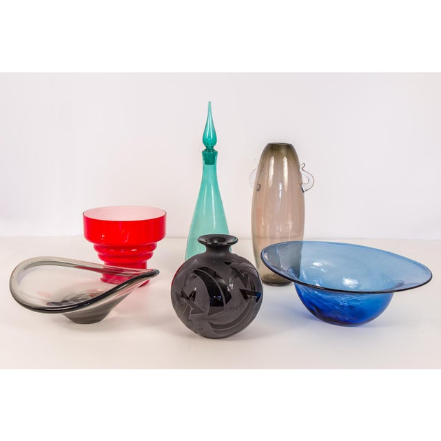Dimpled Blenko Glass Bowl - Image 9 of 9