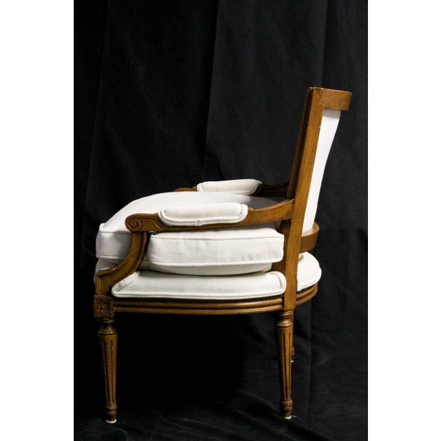 French Louis XVI Bergere Armchair - Image 4 of 4
