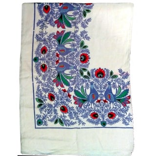 Vintage 1960's Peacock Tablecloth