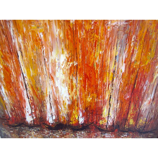 Modernist Abstract Painting - Cityscape/Waterscape - Image 6 of 11