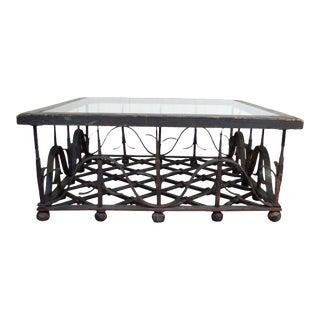 Antique Wrought Iron Mission Arts & Crafts Coffee Table, Samuel Yellin Era
