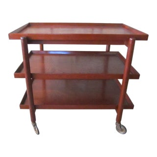 Poul Hundevad Danish Modern Bar Cart/Serving Table