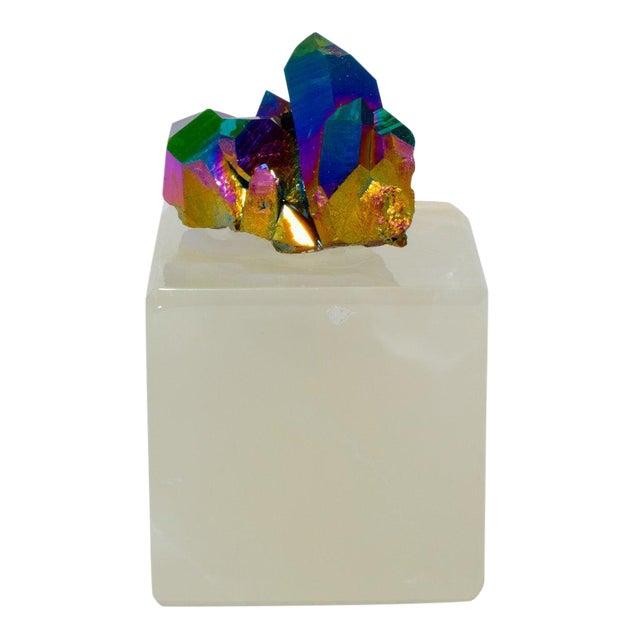 Titanium Spirit Quartz on an Onyx Stand Paper Weight - Image 1 of 2