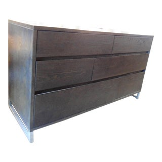 West Elm Dark Wood Dresser