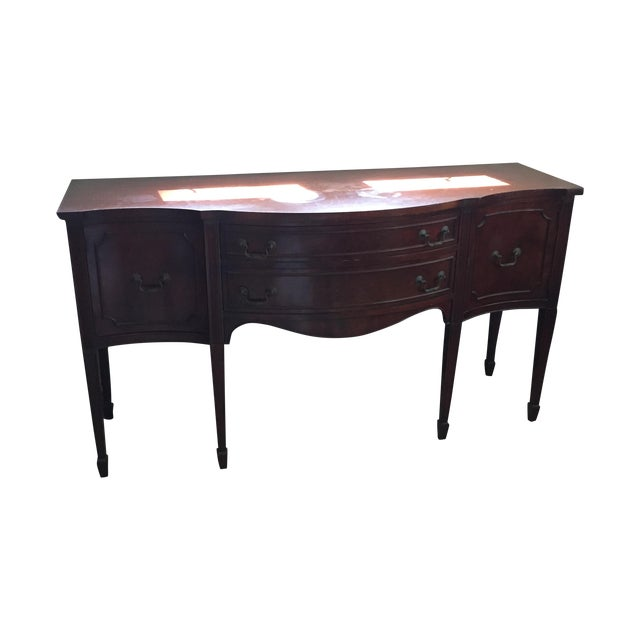 Image of Traditional Mahogany Buffet Table
