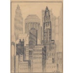 Image of A. Revel 1920's New York City Drawing