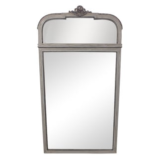 Traditional 1950s French Painted Standing Mirror