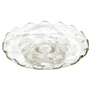 Moondrop-Designed Glass Cake Server