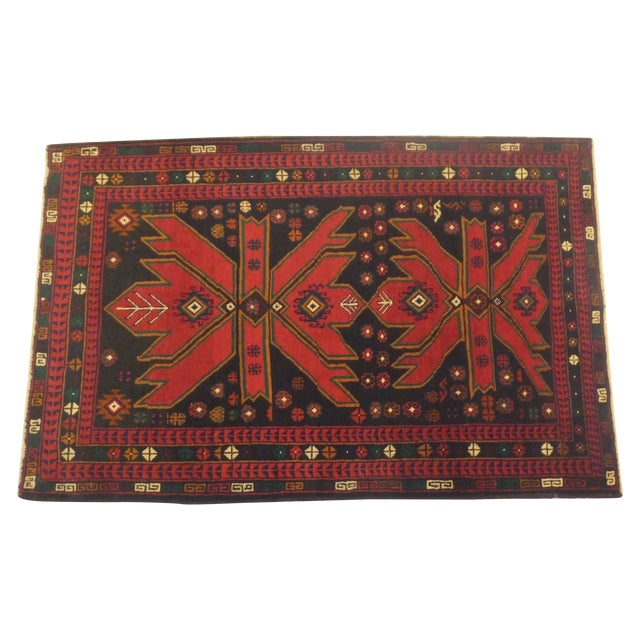 Image of Patterned Baluch Rug - 3' x 5'