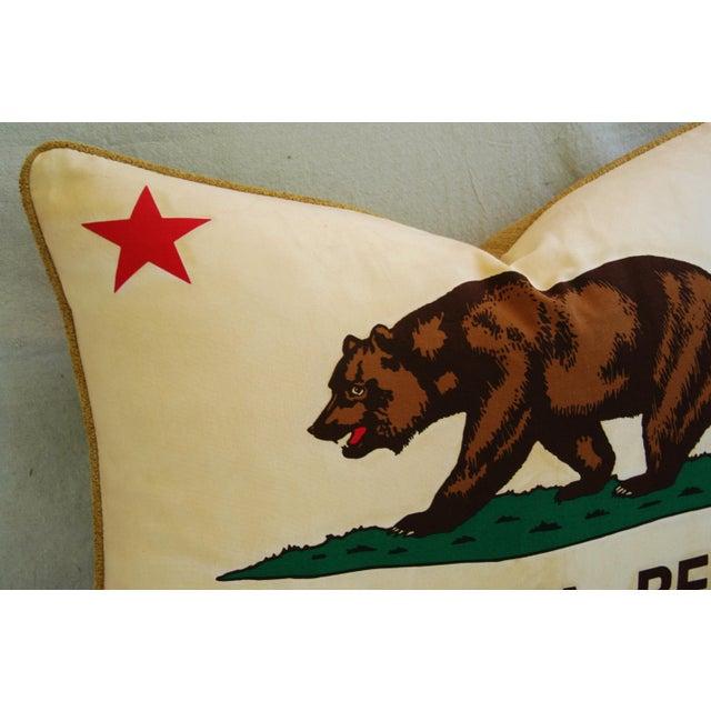 Jumbo California Republic Bear Flag Pillow - Image 5 of 11