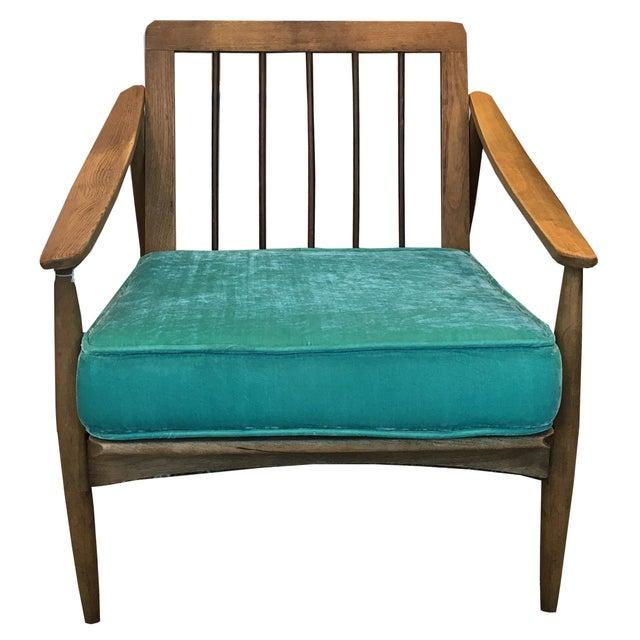 Midcentury Danish Teak Occasional Chair - Image 1 of 2