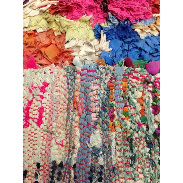 Boucherite Rag Carpet - 4′6″ × 5′ - Image 3 of 5