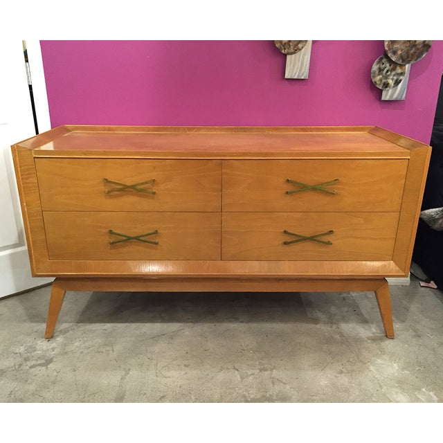 Mid-Century Modern Buffet With Brass Hardware - Image 2 of 9