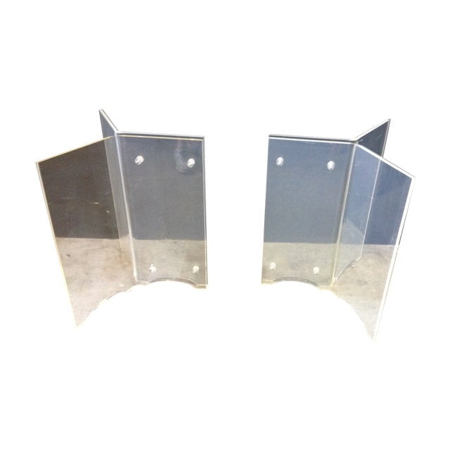 Vintage Lucite Table Bases - A Pair - Image 1 of 8