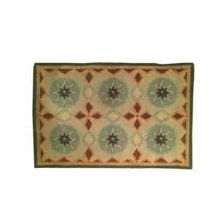 Small Hand Hooked Wool Rug - 2′ × 3′