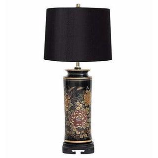 Black Chrysanthemums Lamp