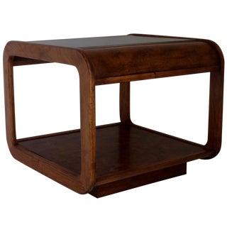 Mid-Century Walnut & Burlwood Side Table