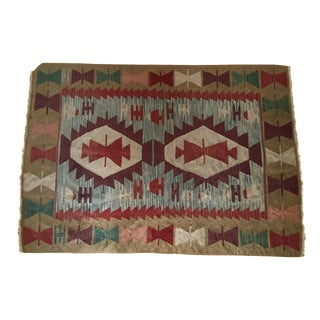 "Vintage Turkish Kilim Rug - 3'10"" x 5'6"""