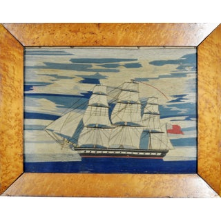 English Sailor's Woolwork of a Royal Navy Ship