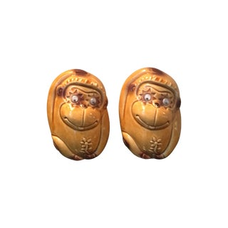 Vintage Mid-Century Monkey Salt & Pepper Shakers