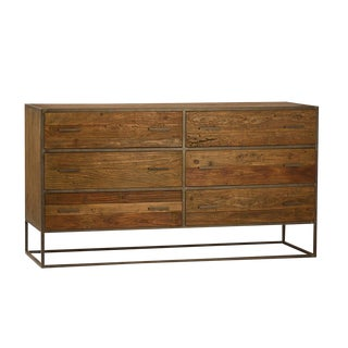 Wood & Iron Six-Drawer Sideboard