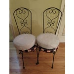Image of Salterini Style Bistro Chair Frames - A Pair