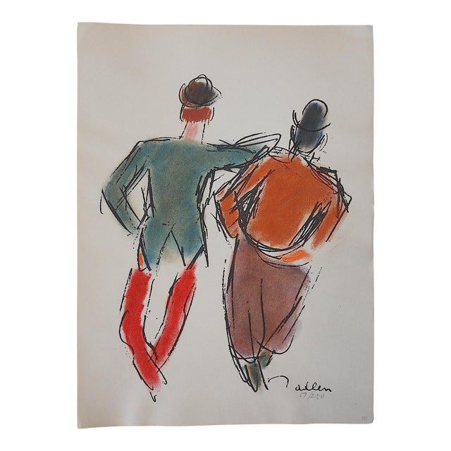 Limited Ed. Lithograph Mid 20th C. Clowns of Paris - Image 1 of 6