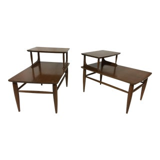 Danish Mid-Century Walnut End Tables - A Pair