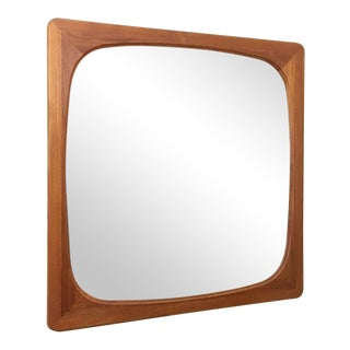 Danish Modern Teak Square Mirror