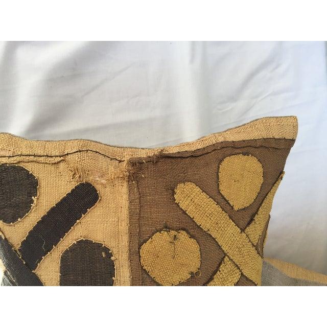 African Kuba Cloth Pillows- A Pair - Image 7 of 7