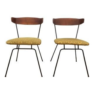 Clifford Pascoe Mid-Century Iron and Wood Chairs - a Pair