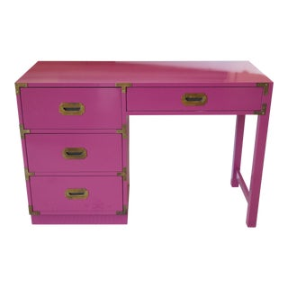 Lacquered Campaign-Style Desk