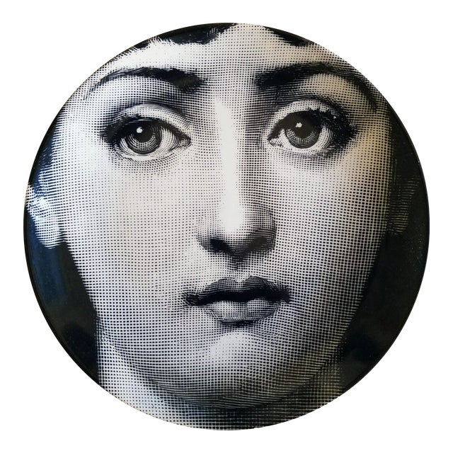 Piero Fornasetti Tema E Variazioni Porcelain Plate, #1 - Image 1 of 2