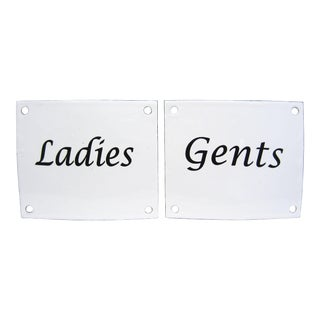 Ladies & Gents Porcelain Signs