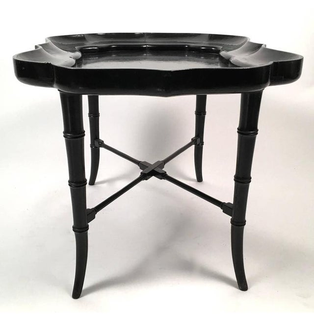 Black Lacquered Tray Top Coffee Table - Image 1 of 5