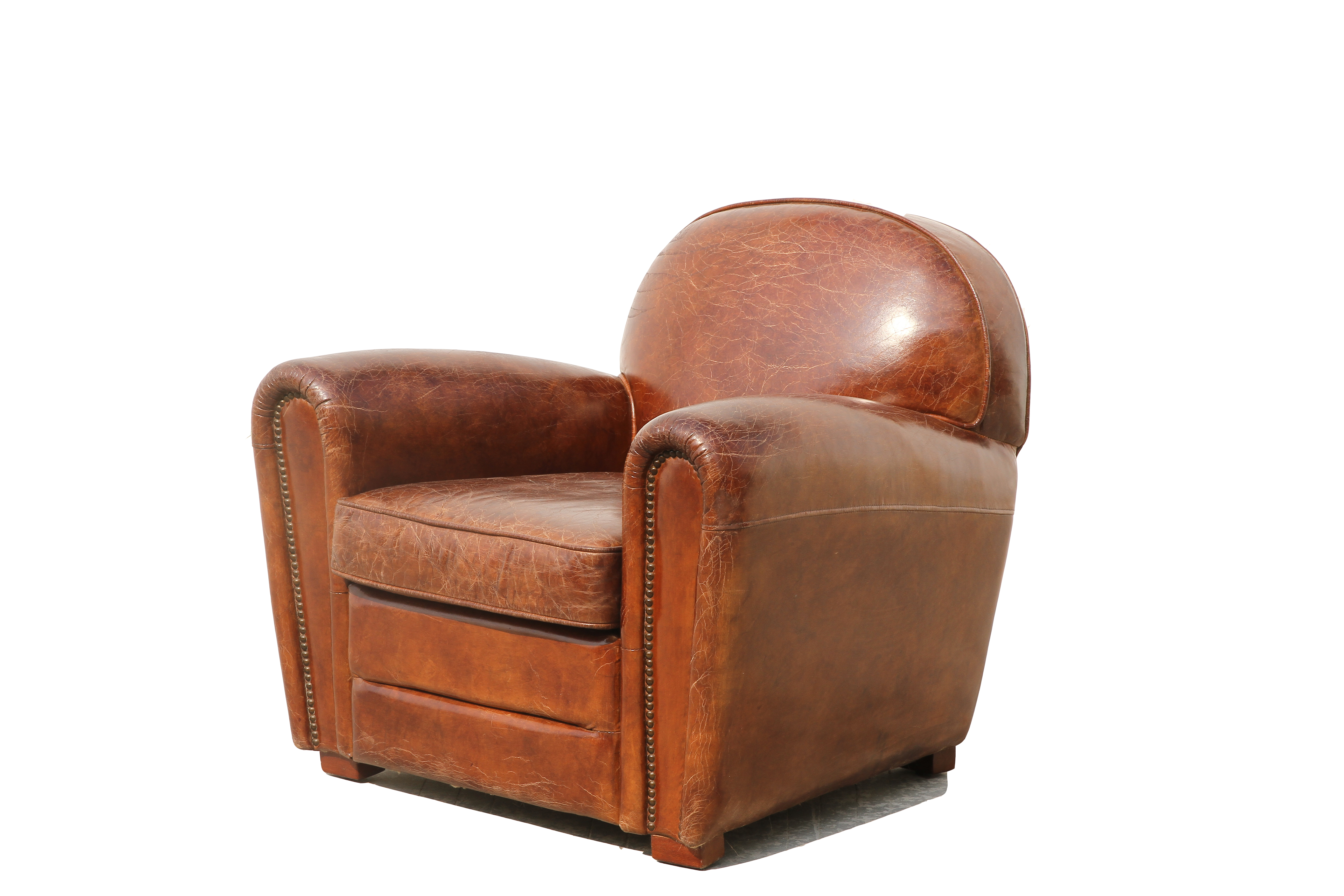 Attractive Pasargad Genuine Leather Paris Club Chair   Image 3 Of 5