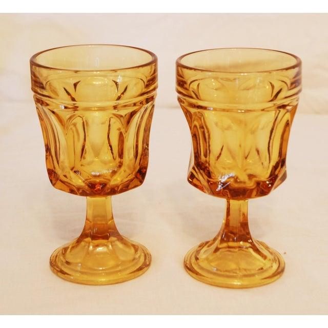 Libbey Amber Stemmed Wine Glasses - Set of 8 - Image 3 of 3