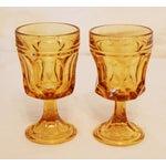 Image of Libbey Amber Stemmed Wine Glasses - Set of 8