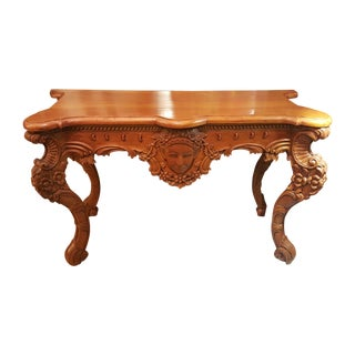 Late 1880's Rococo Carved Entry Table