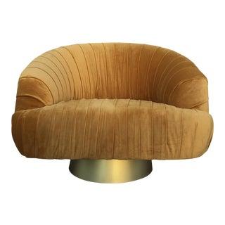 Hollywood Regency Gold Velvet W Chair