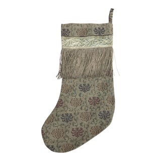 Textile Christmas Stocking with Fringe