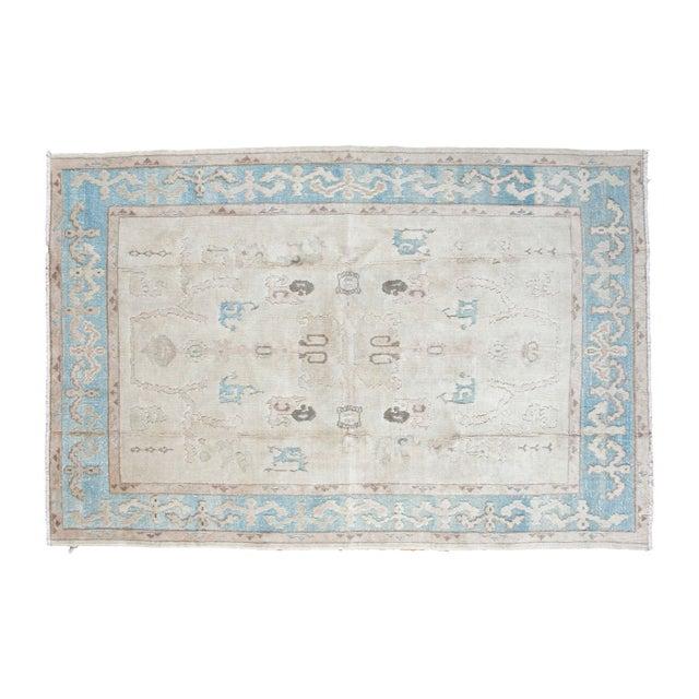 "Vintage Oushak Carpet - 5'4"" x 8' - Image 1 of 1"