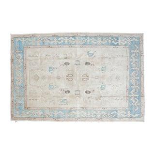 "Vintage Oushak Carpet - 5'4"" x 8'"