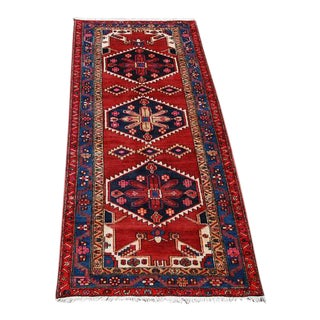 "Hand Woven Persian Geometric Malayer Rug - 3'8"" x 9'5"""
