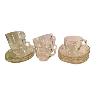 Mid-Century Apple Snack Set - Service for 7