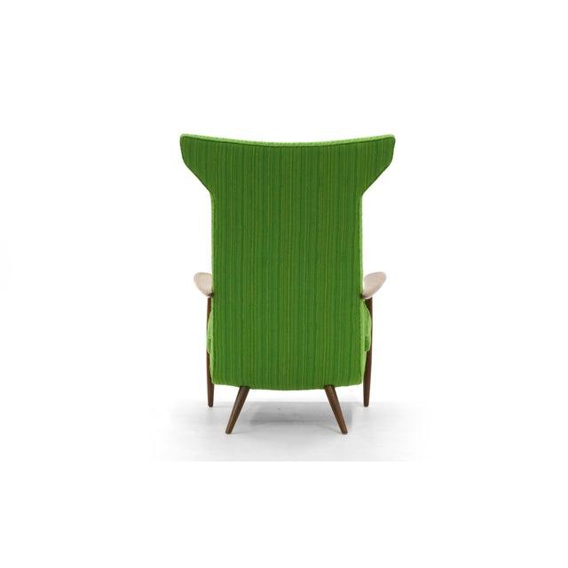 Rare George Nakashima for Widdicomb High Back Lounge Chair and Ottoman - Image 6 of 11