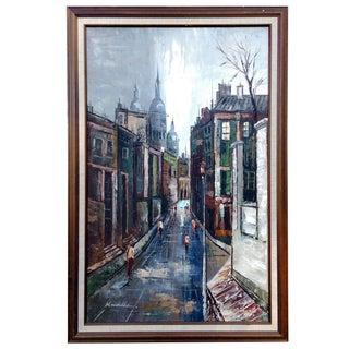 Cubist Parisian Street Scene Oil Painting